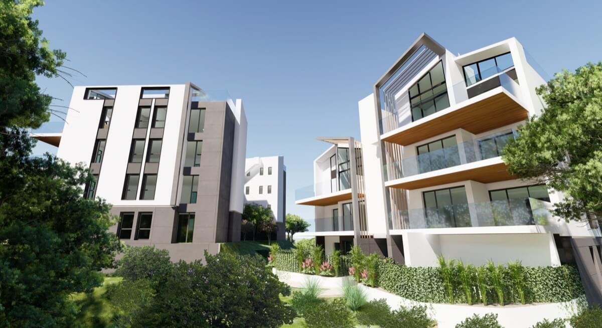 Render interior urbanización del residencial de Las Colinas, Orihuela