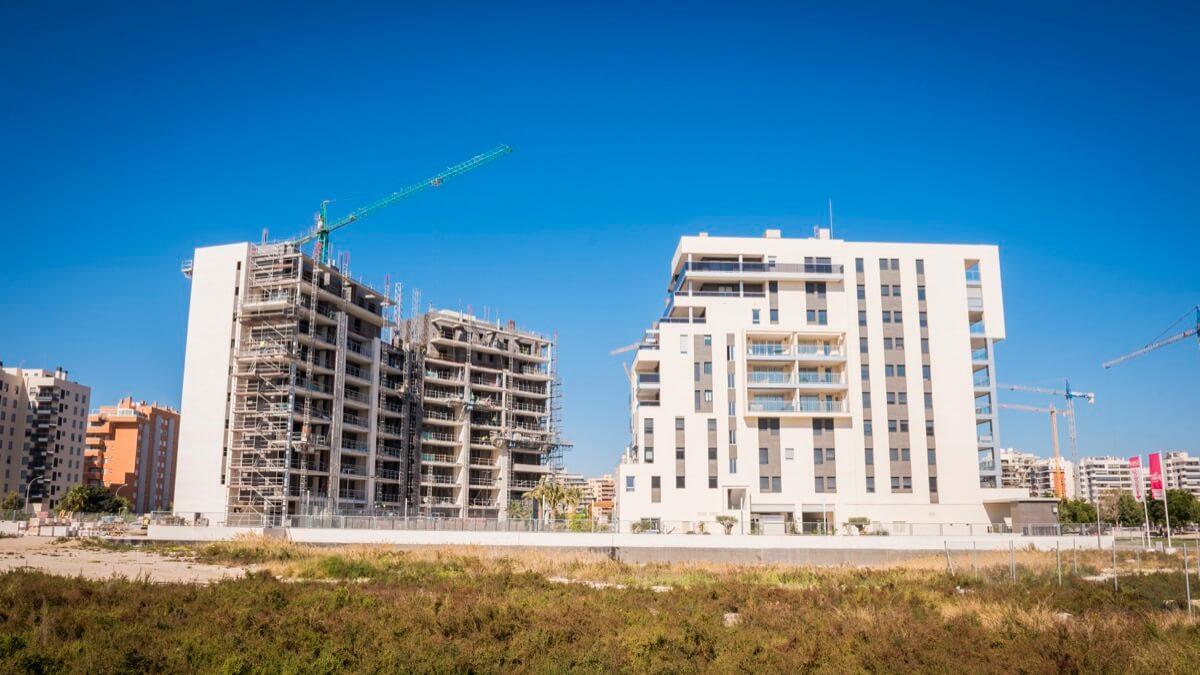 Edificios en construcción del Residencial Ítaca.