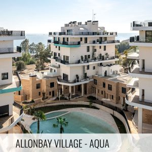 Proyectos de arquitectura. Urbanización de la promoción inmobiliaria Allonbay Village - AQUA