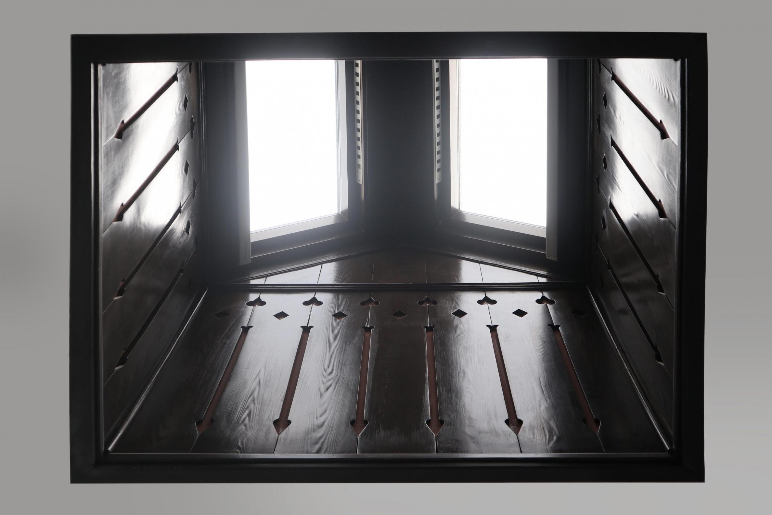 Detalles del Lucernario de madera de Labradores 24 visto desde abajo.