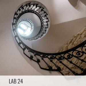 Proyectos de arquitectura. Escalera helicoidal de la Promoción residencial de rehabilitación del Edificio Labradores 24