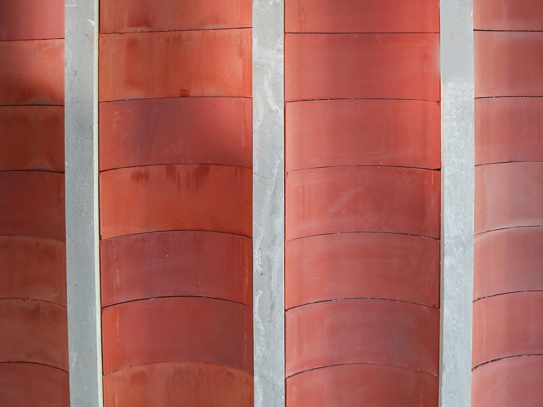 Bovedillas cerámicas curvas, arquitectura unifamiliar