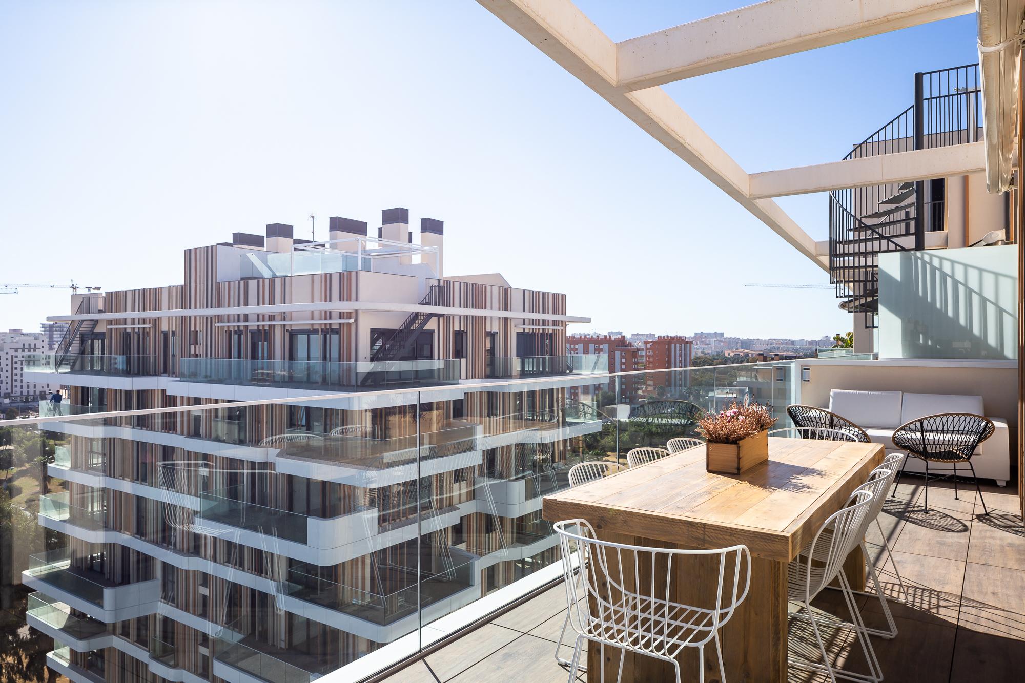 Vistas desde la terraza del ático del Residencial Nature by Kronos Homes